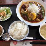 蓮華 - 料理写真:蓮華特製 火鍋風 夏野菜スープカレー