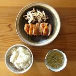 ベーコン工房 燻太 - 燻製グリルチキン定食 ¥1000