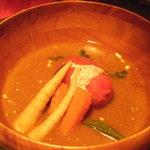 マファリカフェ - スープカレーは,トマトの酸味が強い味でした。