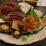 楽酒 ダイニング 武尊 - 料理写真:雲丹とかつお