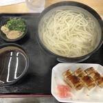 手打ちうどん そがわ - 料理写真:釜揚げに穴子寿司。