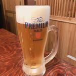 炉端かば - 生ビール中