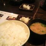 鐵玄肉匠 渋谷 - ご飯・味噌汁・漬物