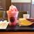 タリーズコーヒー - 料理写真:T's アイスラッシュ ストロベリーとたっぷりたまごサンド
