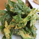 さかや食堂 - あしたばの天ぷら。