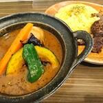スパイス ポット - ニンニク牛ステーキと野菜のカレー(マンスリー2020.8)