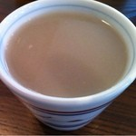 13473709 - そば粉を溶かして供される蕎麦湯実に濃厚です。