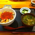 13473912 - 鮭いくら丼!いくら味付け絶妙です!もちろん鮭もおいしい!量も丁度良いですね!