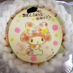 ラ・ブランシュ - メロンのショートケーキ7号サイズ(キャラクターケーキマイメロディ)