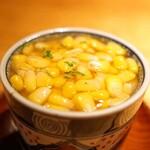 134731778 - 蛤と玉蜀黍の茶椀蒸し