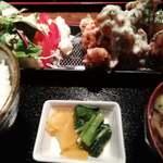 レストラン LAMP - 鶏唐わさび定食1