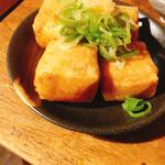 きど藤 - 揚げ豆腐 にんにくきいてておいしー