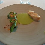 Azure 45 - メヌケのロースト ハーブのソース 瓜と鰹節