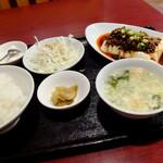 """王さん私家菜 - """"熱々豆腐のピリ辛炒め挽肉かけ"""""""