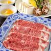 河童 - 料理写真:特選伊万里牛のサーロインすきやき(3100円/1人前・税抜)上質な和牛をすきやきで。
