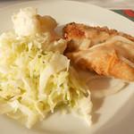 13476572 - ポテトサラダとキャベツと白身魚