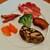 アルバロンガ - ねっとり濃厚な旨味のコッパ、ジューシーな青茄子のグリルや風味良いオイルがからむブロッコリー、甘酸っぱい南瓜など