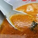 山岡家 - スープ。