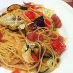 13477893 - 野菜とソーセージのペペロンチーノ