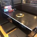焼肉やる気 - お座敷席。4〜15名様までお座り頂けます。