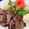 ボスボラス ハサン - 料理写真:ドネルケバブ(牛肉の回転回し焼き)