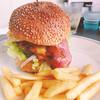 グリーサーズ - 料理写真:バーベキューエッグバーガー 680円 追加トッピング チーズ +100円 ドリンクset  +200円