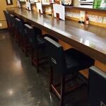 日本酒 かんき - カウンター席