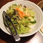 まめ牛 - チョレギサラダ。食前に必ず食べている。