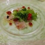 レストラン ラグラース - 三重県産白身魚のカルパッチョ