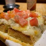 たけとら - サバマヨチーズとトマトの栃尾揚げ