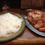 カレーショップ桐島屋 - しょうが焼きライス(850円+ライス大盛り50円)