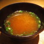 鳳雛 - 甘海老出汁の味噌汁