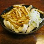 大木うどん店 - もり(太麺)の麺です。