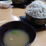 134801088 - わさびスープとしらす丼