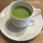 Furansuryouri yaoraryouriten - ⒉グリーンピース 冷製スープ