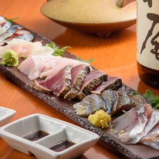 毎日届く新鮮魚介をご提供!