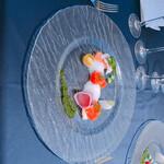 ホテル ミクラス - 富士マスと野菜バジルソース添え