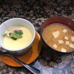 大松寿し - 茶碗蒸しとお味噌汁が付いてます