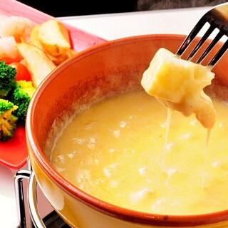 ◇濃厚チーズが絶品!◇4種のチーズフォンデュ♪