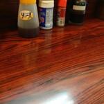 食事処 たけ - 料理写真:カウンターの卓上