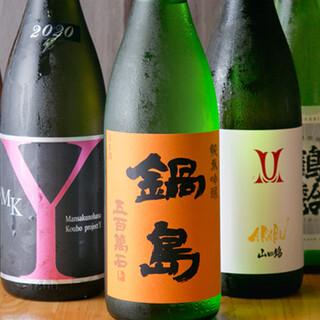しゃも料理とよく合う日本酒・焼酎を豊富に取り揃えております◎