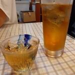 134874565 - 梅酒ロック、ウーロン茶