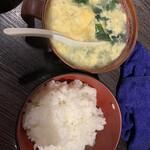 脇田屋 - ごはんとスープのセット¥600