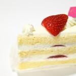 雅心苑 - いちごのショートケーキ。