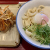 あやがわうどん - 料理写真:とろ玉ぶっかけうどん(大)と野菜のかき揚げ