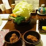 知仙 - 生野菜とお味噌