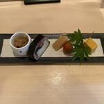 Satou - ジャコ、サバの棒寿司、クリームチーズ