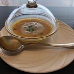 鉄板焼き 七里ガ浜 - 冷製かぼちゃのスープ
