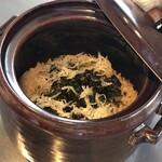 鉄板焼き 七里ガ浜 - アオサの炊き込みご飯
