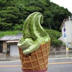 Takadatsuusenen - 抹茶ソフト(¥300)